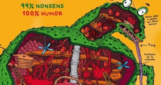 Het waanzinnige boek over de Billosaurus en andere prehistorische wezens andy griffith terry denton de waanzinnige boomhut recensie review billosaurus kontgewervelden onzin humor vieze woorden lachwekkend leuk terra lannoo tekeningen fantasie