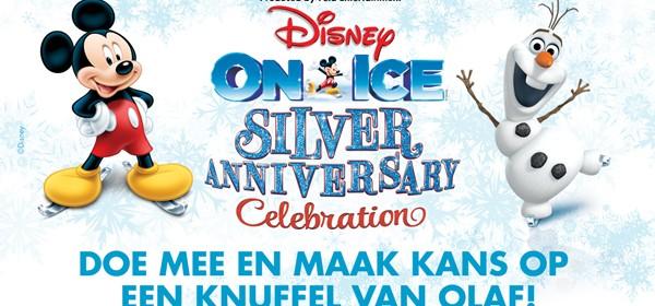 Disney On Ice presents Silver Anniversary Celebration Winactie Olaf sneeuwpop Frozen winnen doe mee winactie Olaf knuffel
