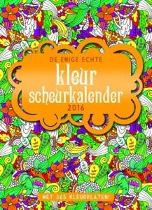 De enige echte kleurscheurkalender 2016 BBNC uitgeverij kleuren voor volwassenen scheurkalender kleurplaat afwisseling praktisch kado cadeau recensie review
