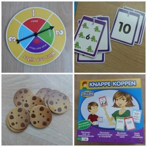 knappe koppen tellen university games recensie review peuters kleuters rekenen leren getalinzicht stimuleren hints koekjes kleur getal kaarten opdrachten kennis rekenvaardigheid fysieke uitdagingen