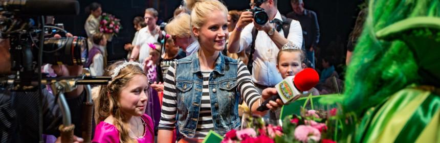 EINDHOVEN - De nieuwe musical 'Rapunzel' van Van Hoorne Entertainment is in premiere gegaan. FOTO LEVIN DEN BOER - PERSFOTO.NU theaterkids achter de schermen kinderen televisieprogramma Telekids van hoorne entertainment rapunzel