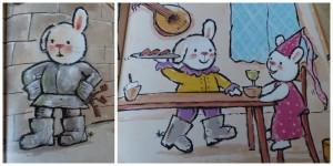 ridder rikki schattig konijntje wordt stoere ridder