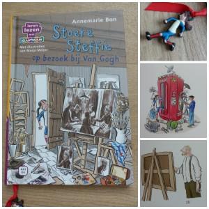 Stoere Steffie op bezoek bij Van Gogh schilder Vincent van Gogh tijdmachine geschiedenis Stoere Steffie en de rare uitvinder Leren lezen met Kluitman AVI Start M3 E3 M4 E4 recensie review overzicht 1885 leesniveaus kennismaking
