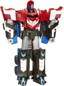 Transformers RID Mega Optimus Prime Robots in Disquise Hasbro speelset 6+ app robot autobot vrachtwagen truck recensie review speelgoed reclame drie stappen ombouwen