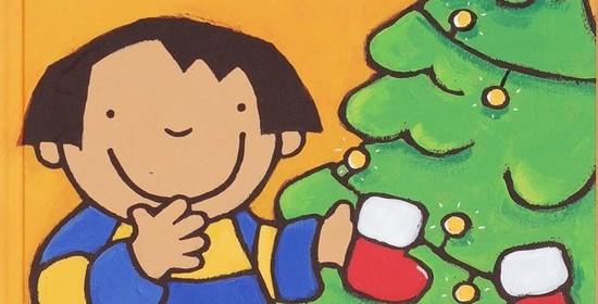 Anna en de kerstboom Kathleen Amant Clavis prentenboek kerst kerstmis dennenboom kerstboom versieren slingers kerstballen lampjes kerstsokken peuters kleuters recensie review prenten herinneringen kerstspullen sneeuw