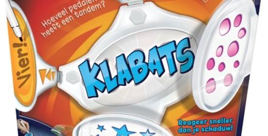 Klabatas Goliath Games recensie review quiz vragen snelheid antwoorden schrijven opklapbare arm vastzetten 8+