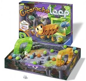 La Cucaracha Loop Ravensburger spel gezelschapsspel bordspel familiespel 6+ verlanglijstje kever kakkerlak looping speelbord spannend lachwekkend hilarisch recensie review
