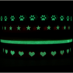 Glow-In-The-Dark-Lint van Lintjeswinkel.nl lichtgeven donker lint lintjes webwinkel website assortiment koorden strikjes elastiek haarspeldjes gelukspoppetjes kadozakjes labels pom poms honeycomb ballen slingers waaiers zusje pomponz.nl recensie review