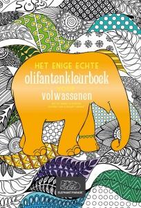 Het enige echte olifantenkleurboek voor volwassenen kleuren volwassenen Elephant Parade BBNC In Aid of Elephant Conservation Dierenpark Emmen dierentuin tentoonstelling kleurplaten patronen detail olifantbeeld ontwerpen beschilderen kunstwerken goed doel