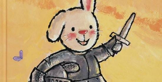 Ridder Rikki guide van Genechten fantasie dromen ridders jonkvrouw kasteel ophaalbrug recensie review Clavis tekening prentenboek avontuur konijntje