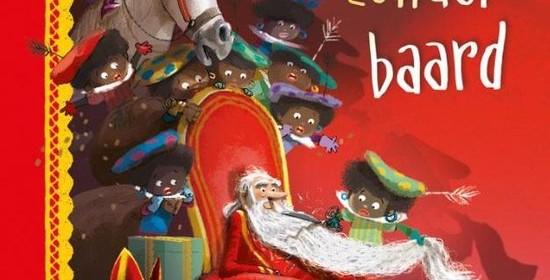 Sinterklaas zonder baard Sanne de bakker mark janssen recensie review kluitman sint goedheiligman pieten baard afscheren mijter mantel staf herkennen stoomboot Nederland Spanje voorleesboek 5 december verlanglijstjes pakjesavond intocht