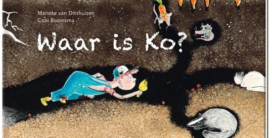 Waar is ko recensie review De vier windstreken prentenboek doorzettingsvermogen vriendschap konijn marieke van Ditshuizen Cobi boomsma warm verhaal levendige prenten