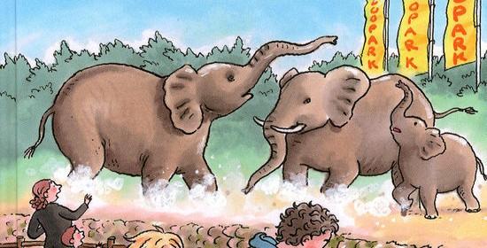 Onrust bij de olifanten Zookids Royal Jongbloed Liesbeth van Binsbergen AVI E5 zelf lezen olifantenliedster dood bavianen vreemd gedrag onrustig onderzoek recensie review