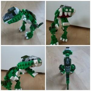Banbao Tyrannosaurus Rex recensie review bouwstenen bouwblokjes past op andere merken Spinosaurus dino's dnosaurussen cadeautje stoere jongens meiden bouwinstructie grijze steentjes