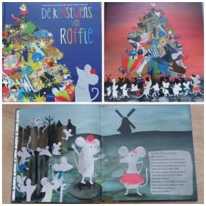 De Kerstwens van Raffie Pauline Oud prentenboek Clavis Kerst kerstboom versieren kerst vieren gezellig samen zijn warm kerstverhaal samenwerken kerstman dromen wensen recensie review Julie van Zessen Mieke Driessen