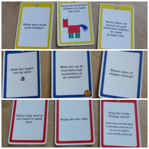 Knappe Koppen Dierenvrienden bordspel University Games recensie review peuters kleuters kaarten pionnen opdrachten motoriek ontwikkelen zelfvertrouwen creativiteit fantasie nieuwsgierigheid stimuleren inspireren leren dierenrijk