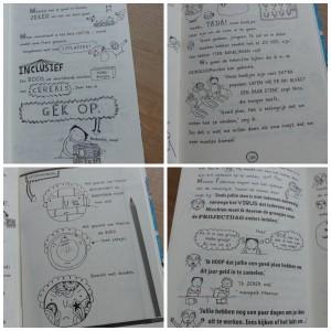 Ja Nee Misschien Tom Groot Ja! Nee. Misschien Deel 8 dagboek recensie review Gottmer zelf lezen graphic novel school ontbijtgranen twijfelen opruimen projectdag levendig tekeningen opletten Ja! Nee. Misschien...