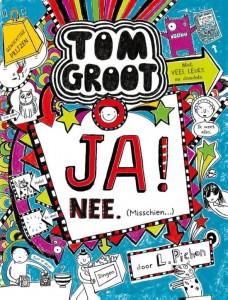 Tom Groot Ja! Nee. Misschien Deel 8 dagboek recensie review Gottmer zelf lezen graphic novel school ontbijtgranen twijfelen opruimen projectdag levendig tekeningen opletten