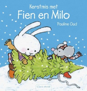 Kerstmis met Fien en Milo Pauline Oud Clavis prentenboek kerst kerstboom versieren grapjes tekeningen illustraties sneeuwpop sneeuwen vrienden verrassende wending minikerstboom recensie review
