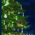 Kerstmis Nicole de Cock prentenboek uitgeverij moon dennenboom dieren versiering meenemen illustraties mens dier bewonderen kerstboom dorp sfeervol recensie review