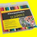 Kleurpotloden voor Dummies kleuren BBNC review recensie etui plastic kleurmateriaal school kantoorbaan creativiteit fans kwaliteit uitleg basisinformatie heldere kleuren effect