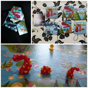 Loch Ness The Game Master familiespel gezelschapsspel 4+ Red Glove spelletje bordspel Monster van Loch Ness Nessie foto's maken strategie geluk dobbelsteen golven onderduiken splitsingen fotografen zakje plaatjes bewogen donker mist perfecte foto gedachte winnaaar kaarten kaartjes spannend punten scoren haarscherp contour verte recensie review