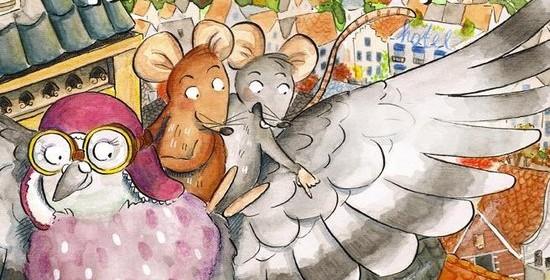 Oliver & Charlie Waar is Lily? Het Muizenfeest dappere muizen nichtje Lily ondeugend stad kat Blinde Benny Aerial Media Company recensie reviewkoeien oma Molly Duif auto mand broden feestje prenten avontuur hart nieuwsgierig rommeltje huis gevaarlijk ooglapje muizenavontuur verstopplek stad vergeten