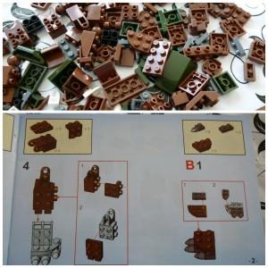 BanBao bouwstenen Lego dino's dinosaurussen brontosaurus BanBao Brontosaurus (6858) 138 blokjes bouwset speelset recensie review Dinosaur stickers kogelgewrichten levensecht boekje instructies scharnierpunten pijltjes gaatjes recensies serie testen
