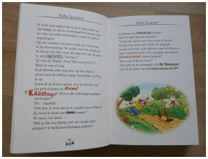 De grote invasie van Rokford Geronimo Stilton Zelf lezen De Wakkere Muis recensie review De Zwarte Tornado schip katten piratenkatten verhaal gesmolten kaas aanval spannend 1207 geschiedenis school ontdekking replica stadhuis oorlog veroveren muizeneiland vormgeving prenten gekleurde tekst lettertypen extraatje dagboek Oscar Tortuga