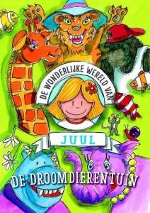 De wonderlijke wereld van Juul De Droomdierentuin Julia Woning kleurboeken recensie review prentenboek avontuurlijk kleurrijk dieren gebreutenissen slapen badkamer water geluid olifant tijger huis overal prenten BBNC