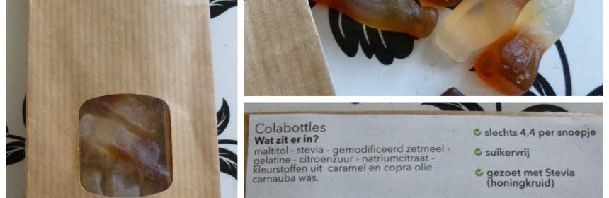 Food2Smile Colabottles colaflesjes snoep verantwoord recensie review online PLUS supermarkten stevia kleurstoffen webshop