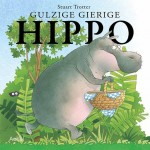 Gierige gulzige Hippo nijlpaard picknick eten delen samen recensie review Aerial Media Company dieren spelen grap fouten leert mand lekkers rug smikkelen leeg zoek picknickplek kinderen genieten prenten veilig nieuwsgierige aardig genieten Stuart Trotter