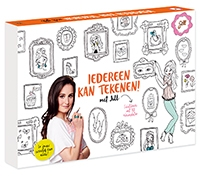 Iedereen kan tekenen met Jill Jill Schirnhofer creatief informatief tekenen kleuren recensie review Karakter Uitgevers schetsboek leren tekenen passe-partout kleurplaten inkleuren schilerij oefenen instructies stap-voor-stap