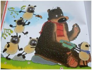 Lekker Taart! Dorus beer prentenboek vies lekker eten hart ontbijten honing honingdruppels spoor schapen schaapjes proeven taartjes hartverwarmend vriendschap proberen nieuwe dingen plezier hongerige beer bessen noten wortel vies dapper hapje lekker verhaal proeven niet lust uitdaging recensie review