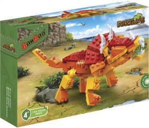 BanBao Triceratops (6862) bouwstenen dinosaurus dino dino's recensie review bouwset blokjes wereld jaren stickers levenswecht kogelgewrichten hoornen steentjes collectie exemplaren