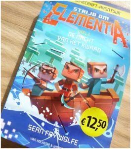 De nacht van het kwaad: Strijd om Elementia Deel 2 Sean Fay Wolfe Minecraft spel server tekeningen leesboek letterformaat Element City Noctem Alliance Alliantie leesniveau taalgebruik serie boekenreeks recensie review Deel 1 Het recht van de sterkste