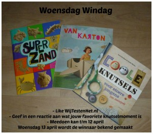 Woensdag Windag knutselboeken knutselpakket reactie winnen