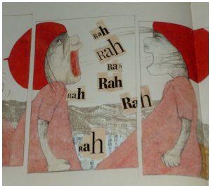 Rosa van de raven Helga Bansch De Vier Windstreken recensie review prentenboek broertjes zusjes anders zijn veren vliegen kwaliteiten nest eieren raven ei mensenkindje ouders kindjes mutsje jurkje koud vogels vreemd tips veranderen krassen rondfladderen probeert gelukkig herfst ouders geduldig vliegen Rosa rug zuiden bouwen nest geschenk vriend gevonden rest verhaallijn prenten liefde straalt