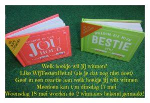 Win een persoonlijk cadeau-boekje woensdag windag winen cadeau-boekjes prijsvraag invulboekjes Facebook geef reactie meedoen winnaar bekend winactie