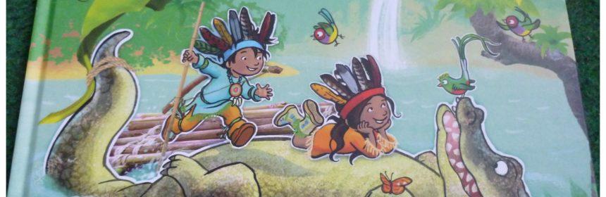 De avonturen van Indi en Kai Indi en Kai redden het oerwoud Marianne Busser en Ron Schröder recensie review boek duo twee dappere indianenkinderen leuk enthousiasme avontuur kinderen jungle oerwoud voorleesboek prentenavonturen dappere indianenduo spannende verhaal dreigt gevaar bewoners mensen plan pretpark gebeuren verhalen tropische bos gedreun lawaai olifant zand ogen struisvogel regelen ijsbeer oma verhuizing programma variatie onderwerpen prenten kijken ivan en ilia betoverende plaatjes combinatie tekeningen foto's diepte jungle veren boomstammen vlot technieken vloeien geheel prentenboek uitgeverij Moon handen jagers deftige mannen opluchting