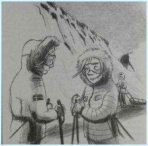 Alarm op Spitsbergen reeks serie Emma Dewit Dixie Dansercoer Reina Ollivier spannend leerzaam klimaatverandering milieu poolgebieden poolreiziger juistheid feiten foto's filmpjes delen noorden Layar scan app filmpjes sneeuwlandschap kite kiteles keuzes maken energievoorziening trio steenkoolmijnen eiland actie spullen beschadigd verdwijnen geschreven avontuur spanning leven hangen beelden zuinig natuur aanwinst boekenkast scholen thuis