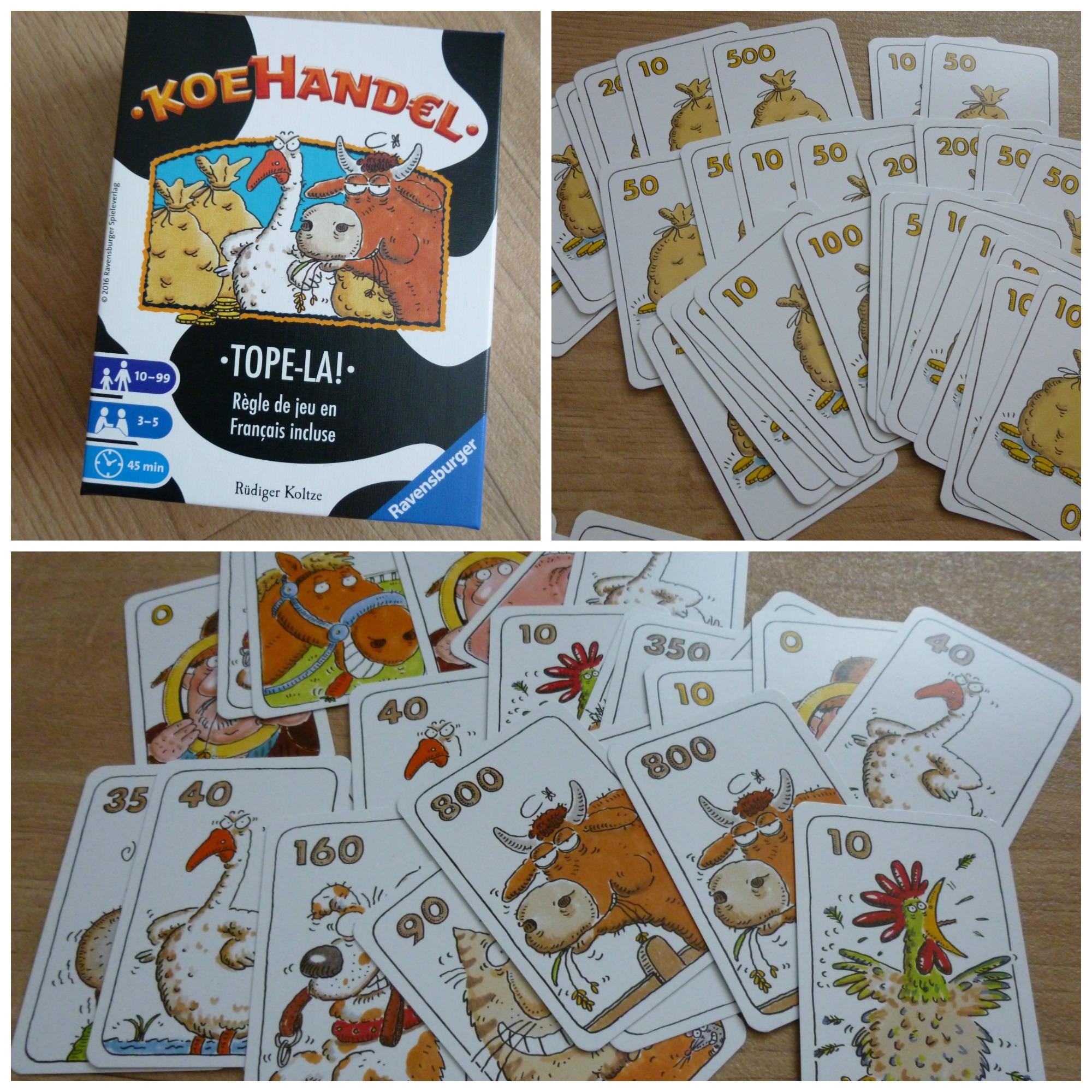 Koehandel kaartspel kaartspel