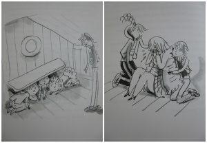 Mei-Lan en het geheim van snackbar de Belg Jacques Vriens Van Holkema & Warendorf recensie review De kinderen van het kattenpleintje boekenreeks serie adoptie China professor ouders frietjes geheim informagtie spreekbeurt vragen problemen feest