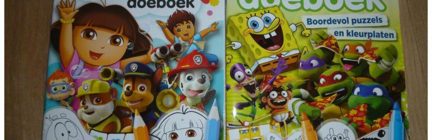 Denksport Nick Jr. Doeboek Nickelodeon Doeboek recensie review puzzelen kleuren helden Nickelodeon Denksport samenwerking resultaat doeboeken kinderen combinatie puzzelkwaliteit Nickelodeon-karakters letterlijk tv-helden puzzelen spelen speel- puzzelplezier leeftijd 4-6 jaar 7-9 jaar plezier beleven puzzelboeken figuren lievelingsprogramma's winkel verkrijgbaar online bestellen doolhoven verbind de puntjes sudoku's zoek de verschillen jongens meiden Dora Bubbel Guppies Paw Patrol Go Diego Go NiHao Kai-Lan Umizoomi kleurrijk boordevol spelletjes puzzels kleurplaten oudere kinderen codekleuren codeplaatjes tellen kleuren tekenopdrachten tv-karakters genieten Teenage Mutant Ninja Turtles Spongebob Squarepants Broodschappers Santjay & Craig Fanboy & ChumChum