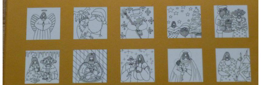 De enige echte Dikke dames kleurkerstkaarten Julia Woning recensie review gezellige kersttafel wandelen winterwonderland cadeautjes kerstboom kerstkaarten envelop doosje luxe metallic folie familie vrienden collega's kerstsferen set enveloppen tekeningen formaat werk ontspannend afbeeldingen divers rendier Rudolf sneeuwpop kerstballen kerstengeltjes echtpaar toostend voorbeelden BBNC
