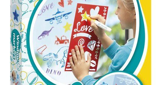 Totum Window Markers raamstiften sjablonen recensie review schoonmaken testen lieflijk stoer set enthousiast kleuren resultaat genieten vrolijk slaapkamerraam activiteit vriendinnen spelen raam keurig geboek vlekken schoon