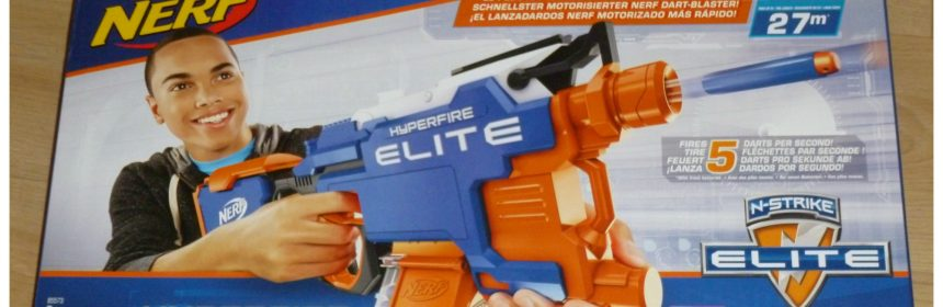Nerf N-Strike Elite Hyperfire Hasbro blaster 8+ Nerf Rebelle recensie review testen magazijn darts schieten