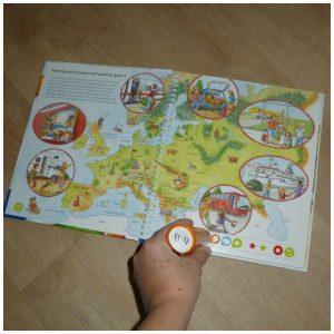 TipToi Op reis door Europa boek Ravensburger TipToi Stift interactief aardrijkskunde leerzaam leuk ontdekkingsreis recensie review
