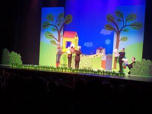 Première Peppa Pig de grote plons van hoorne entertainment speellijst Goudse schouwburg Gouda recensie review theater voorstelling show dagje uit