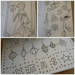 Kleur je kerst met Jill Jill Schirnhofer kerstkaarten kleuren tekeningen versturen ontvangen happy kaartenboekje recensie review Karakter Uitgevers